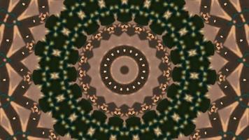brun - anneaux beiges avec élément kaléidoscopique accent vert forêt video