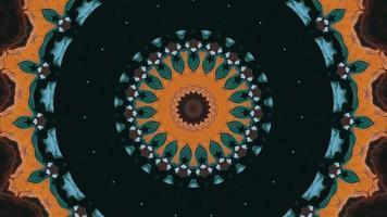 anneau vert noir avec élément kaléidoscopique accent multicolore video