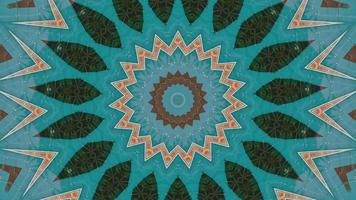 Textured Teal with Orange and Green Accents Kaleidoscope video
