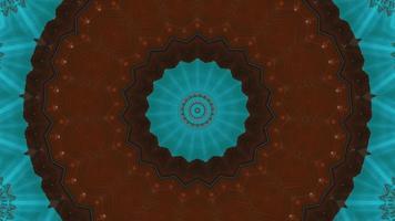 anneau brun rougeâtre rouillé avec élément kaléidoscopique texturé bleu azur video