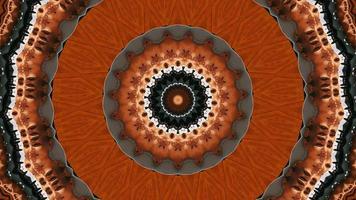 Vivid Rusted Orange Fractal Kaleidoscope Background video