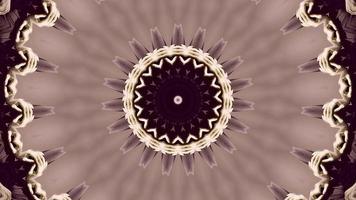 elemento caleidoscópico estrella floral rosa vino video