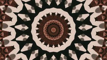 Various Brown and Tan Shades Kaleidoscopic Element video
