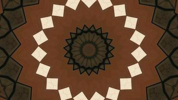 Chocolate Shades with Star Pattern Texture Kaleidoscopic Element video