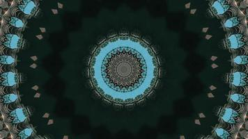 Greenish Black Details with Teal Accent Kaleidoscopic Element video