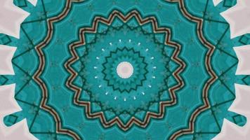 Teal Texture with A Pink Background Kaleidoscopic Element video
