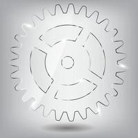 Glass gear vector illustration