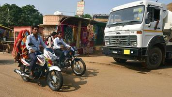 Families on their motorbikes photo