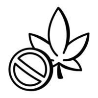 No Cannabis Plant vector