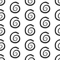 Abstract seamless pattern with hand drawn grunge circle swirl. vector