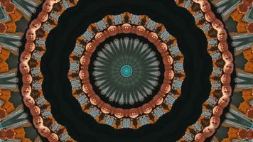 sfondo nero con accenti colorati autunnali elemento caleidoscopico video
