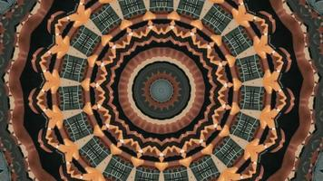 elemento caleidoscopico del cerchio concentrico a tema autunnale video