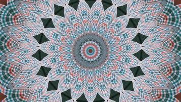 vibrante stella frattale dai colori vivaci con elementi caleidoscopici di accenti verde scuro video