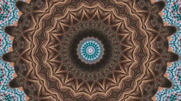 sfumature di marrone con intricato dettaglio marrone chiaro elemento caleidoscopico video