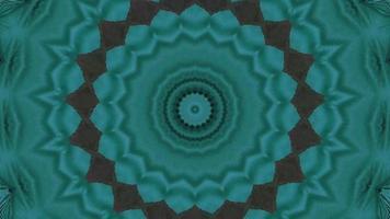 anneau de texture sarcelle pâle avec élément kaléidoscopique d'accent noir video