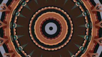 elemento caleidoscopico del cerchio concentrico marrone autunnale video