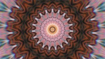 elemento caleidoscopico di una stella rosa arancione frenetica video