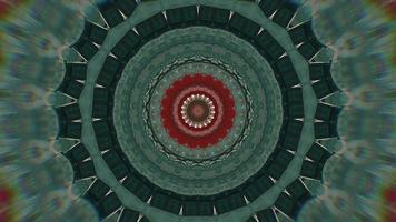 trama frattale verde con elemento caleidoscopico accento rosso video
