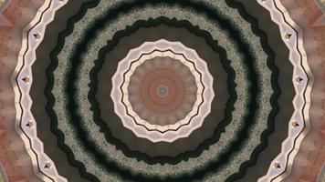 elemento caleidoscopico di cerchi concentrici rosa e marrone opaco video