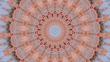 Élément kaléidoscopique anneaux fractal rose rouge video
