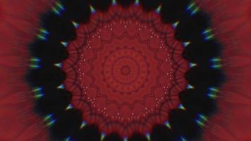 étoiles concentriques rouges vibrantes avec élément kaléidoscopique à fond noir video