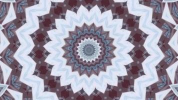 fond rouge désaturé texturé avec un élément kaléidoscopique étoile blanc - bleu video