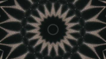 fond vert forêt foncé avec élément kaléidoscopique de détail de moulinet brun sable video