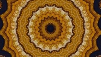 Élément kaléidoscopique étoile fractale brune de dijon video