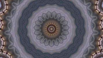 violet pâle - anneaux concentriques gris et élément kaléidoscopique à accent brunâtre video