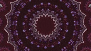 Élément kaléidoscopique fractal étoile violet foncé video
