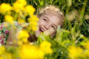 Charming cheerful girl photo