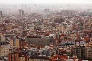 Panorama huge metropolis photo