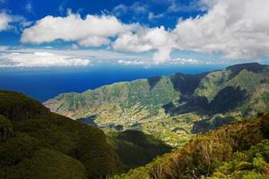 Views of the Atlantic Ocean from a mountain photo