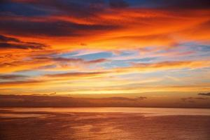Seascape at sunrise and clouds in summer photo
