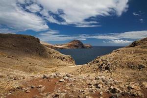 Mountainous shore of the Atlantic Ocean photo