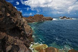 Rocky shore of the Atlantic Ocean photo