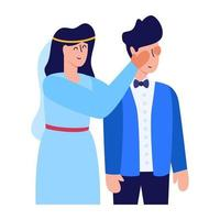 Newlywed and spouse vector