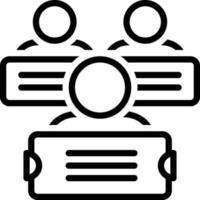 icono de línea para manifestaciones vector
