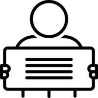 icono de línea para manifestación vector