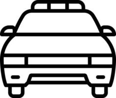 Line icon for police car vector