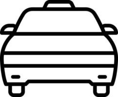 Line icon for cab vector