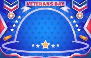 Gradient Veteran Day Background vector