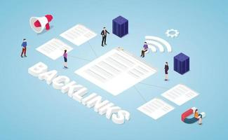 backlinks seo search engine optimization concept vector