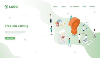 science research to solve problems health care for website vector