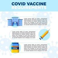 banner de vacuna covid vector