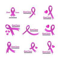 Breast Cancer Awareness Ribbon Badge vector