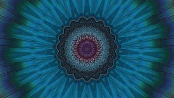 Vivid Teal Pinwheel with Blurred Kaleidoscopic Element video