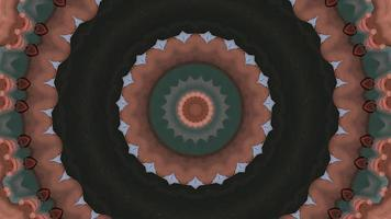 anneaux bruns boueux avec élément kaléidoscopique rouge-vert video