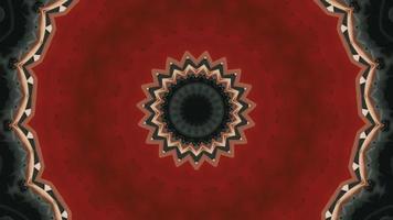 Élément kaléidoscopique à anneau fleuri rouge sang video