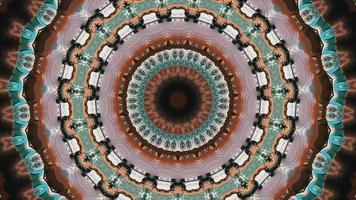 anneau de couleur frénétique avec des accents d'arbres noirs élément kaléidoscopique video
